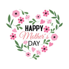 Mother's Day Floral Card.