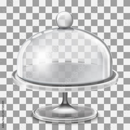 Papel de parede Cake stand with glass cover dome ill