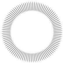 Gray Circular Pattern From Planes On A White Background. Decorative Element. 3d Rendering Image.
