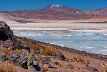 Alues Calientes Salt Flats - Atacama Desert In Chile, South America.