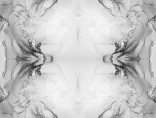 Gray Looking Kaleidoscope. Abstract Background Wawe. Marble Swirl Design. Silver Kaleidoscope People. Grey Stained Glass Patterns. Marbling Ink. Ink Art.