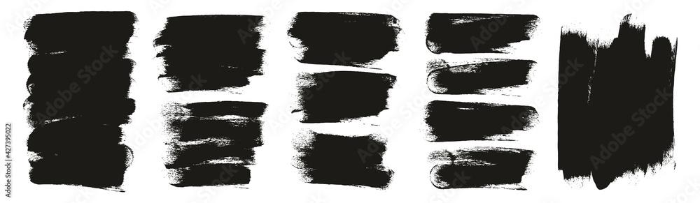 Fototapeta Round Sponge Thick Artist Brush Long Background High Detail Abstract Vector Background Mega Set