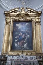 Napoli - Matrimonio Mistico Di Santa Rosa Da Lima Di Luca Giordano Nella Basilica Di Santa Maria Alla Sanità