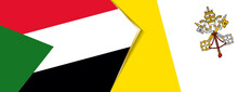 Sudan And Vatican City Flags, Two Vector Flags.