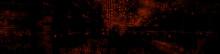 Futuristic, Orange Digital Grid Background. Network Tech Wallpaper Banner. 3D Render