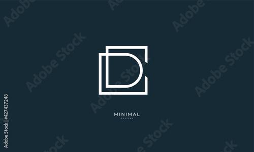 Obraz Alphabet letter icon logo CD or DC - fototapety do salonu