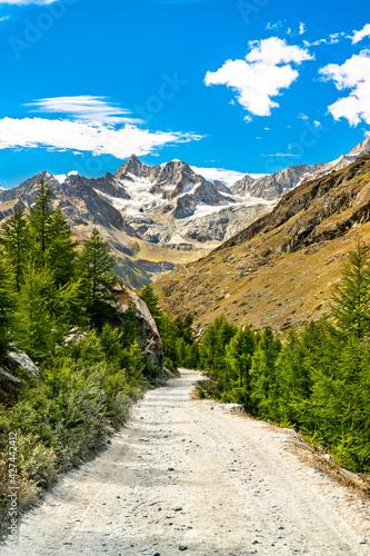 View of Swiss Alps near Zermatt