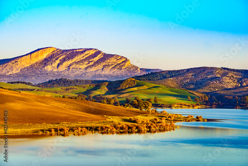 Lerretsbilde Spanish nature landscape in Andalucia.