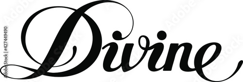 Photo Divine - custom calligraphy text