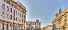 Sofia, Bulgaria : Cityscape In Springtime, HDR Image