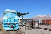 Vintage Train Engine In Ogden Station, Utah