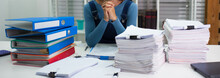 Women Are Serious About Working Hard, Are Stressed Out From Work.
