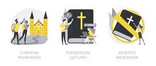 Religious Doctrine Abstract Concept Vector Illustrations.