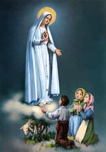 Lady Holy Fatima Miracle Illustration