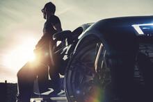 Successful Men And His Luxury Exotic Car