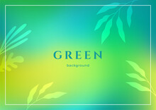Abstract Vector Background In Blue, Green And Turquoise Colors. Bright Flow Gradient For Your Website, Presentation Cover Or Poster. Smooth Blending Of Color Spots. Bokeh Effect.