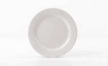 Blank White Ceramic Dinner Dish
