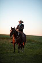 Portrait Of Senior Man On Horse
