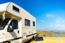 Solar Photovoltaic Panel At Caravan