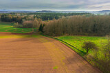 Fototapeta  - Przedgórze Sudeckie. Widok z drona.