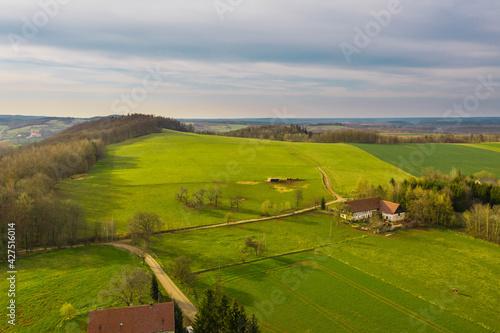Obraz Przedgórze Sudeckie. Widok z drona. - fototapety do salonu