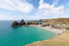 Kynance Cove On A Stunning Sunny Day.