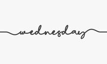 Wednesday Handwritten Word Vector On White Background.