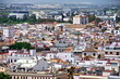 City View from Giralda Spire Bell Tower in Seville Cathedral in Andalusia Spain.