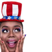 Patriotic July 4th American Woman