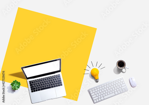 Computers with a light bulb