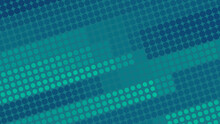 Blue Green Tech Dotted Pattern. Vector Techno Background