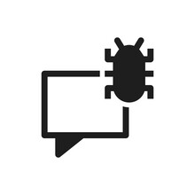 Conversation Infected Virus Icon Sign Symbol
