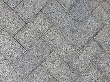 Gray Street Paving Slabs. Texture Background Abstraction