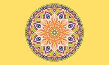 Mandala Coloring Book For Kids Mandala Coloring Page Yellow Background