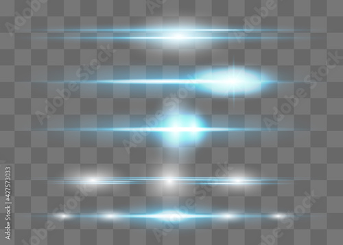 Canvas-taulu Red horizontal lens flares pack