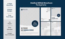 Medical Service Healthcare A4 Format Bi-Fold Brochure Template Design