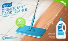 Disinfectant Floor Cleaner Ad Promo