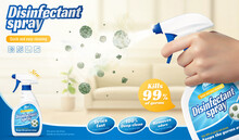 Disinfectant Spray Ad Template
