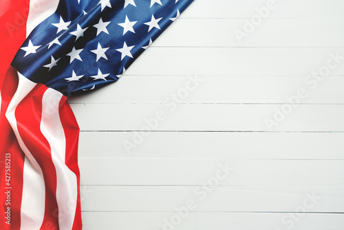 Obraz na plátně USA Memorial day and Independence day concept, United States of America flag