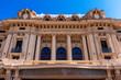Facade of Theatro Pedro II. Opera house of Brazil. Ancient architecture in the city center in Ribeirao Preto City