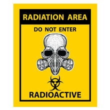 Radiotion Area, Do Not Enter, Sticker And Label