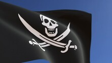 Pirate Flag Of The Jack Rackham Waving In The Wind