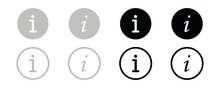 Information Vector Icon Collection. Information Logo. Vector Illustration.