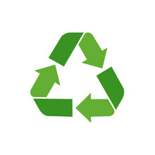 Green Recycle Flat Icon