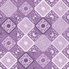Seamless Pattern. Abstract Pattern. Wicker Figures. Purple Shades. Editable.
