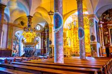 The Prayer Hall Of Parish Church In Traunkirchen, Austria