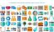 E-commerce business and Online shopping icons collection set, multicolor design for application and websites on white background, Vector illustration EPS 10 ready convert to SVG