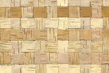 Wicker Background From Birch Bark Strips