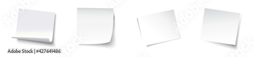 Obraz White template sticker for your design. Vector illustration - fototapety do salonu