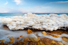 Salt Formations In The Dead Sea Of Israel
